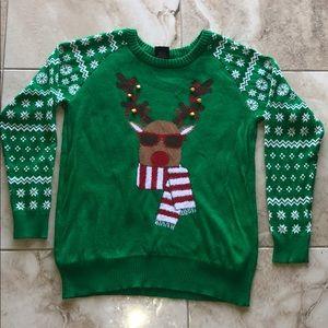 NWOT Christmas Reindeer Bell Ugly Fun Sweater